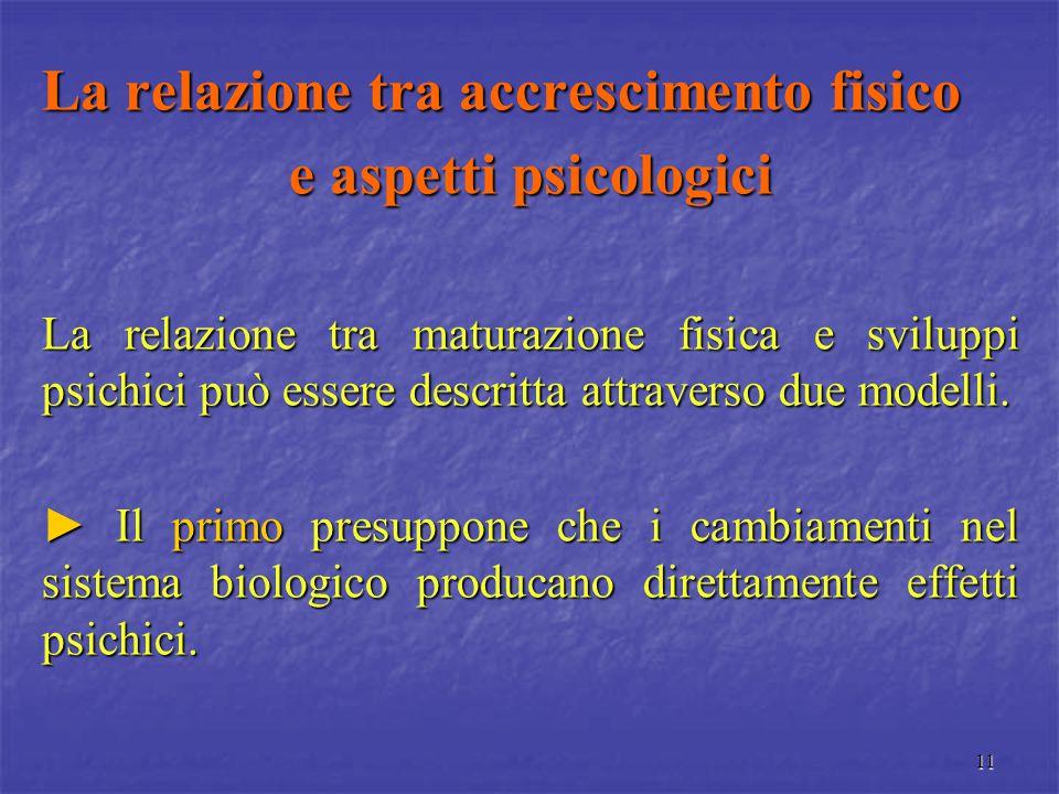 La relazione tra accrescimento fisico e aspetti psicologici