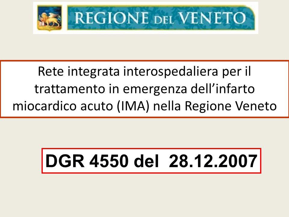 Rete integrata interospedaliera per il trattamento in emergenza dell'infarto miocardico acuto (IMA) nella Regione Veneto