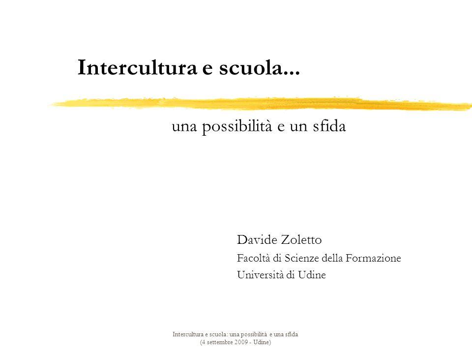 Intercultura e scuola... una possibilità e un sfida