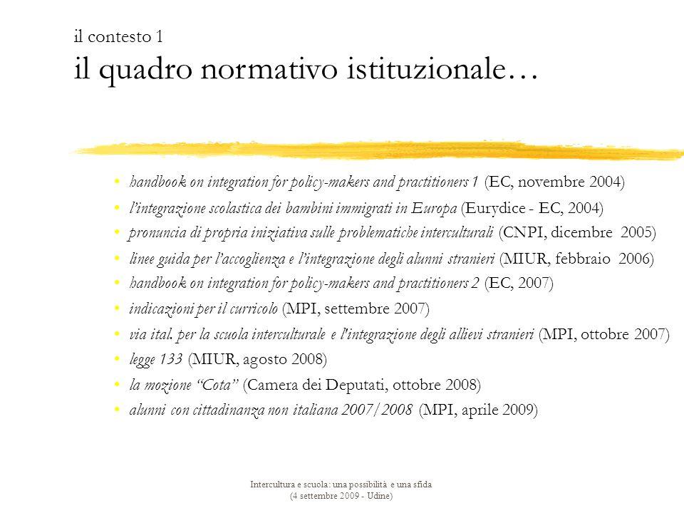 il contesto 1 il quadro normativo istituzionale…