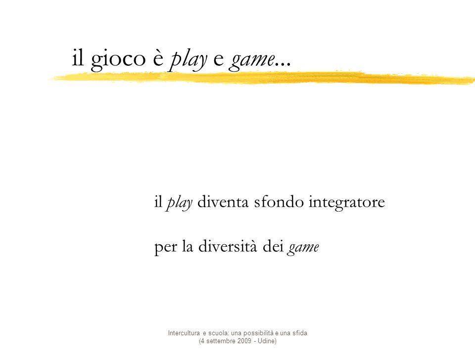 il gioco è play e game... il play diventa sfondo integratore