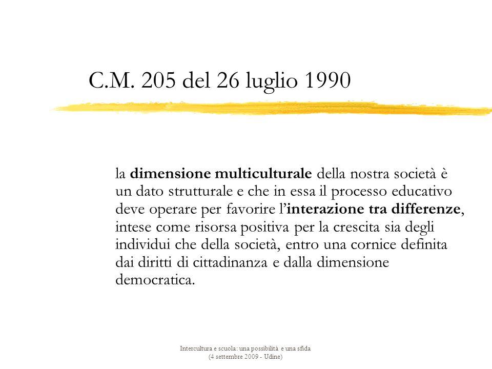 C.M. 205 del 26 luglio 1990