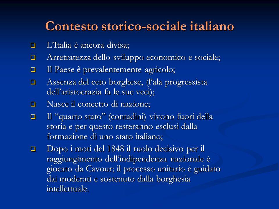 Contesto storico-sociale italiano