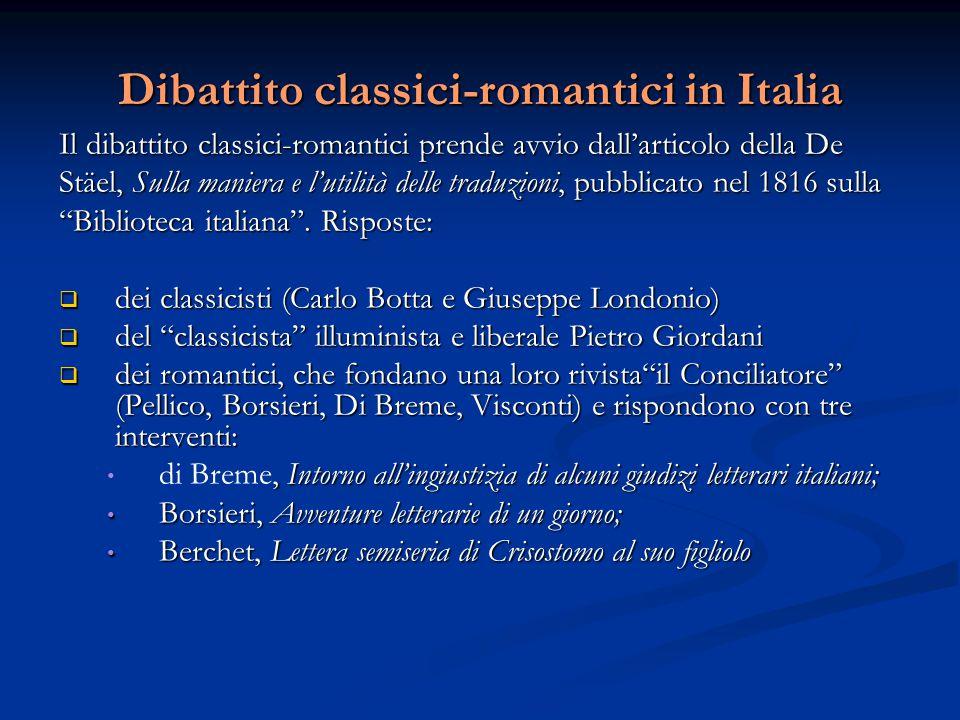 Dibattito classici-romantici in Italia