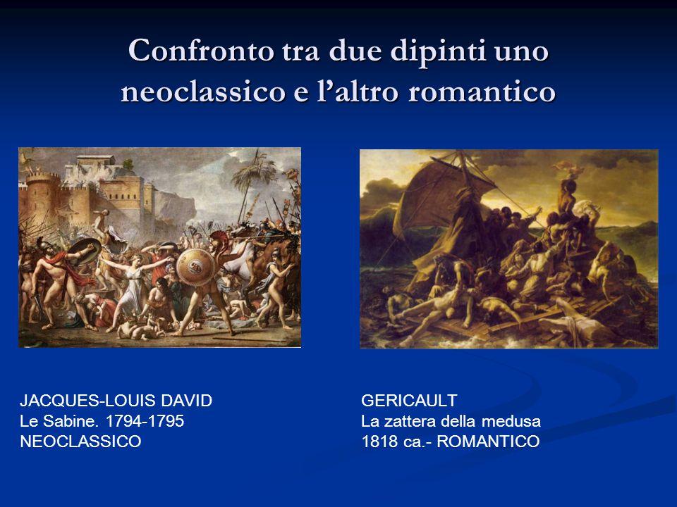 Confronto tra due dipinti uno neoclassico e l'altro romantico
