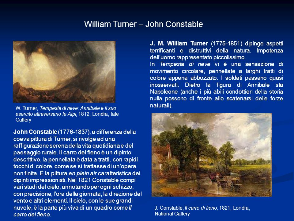 William Turner – John Constable