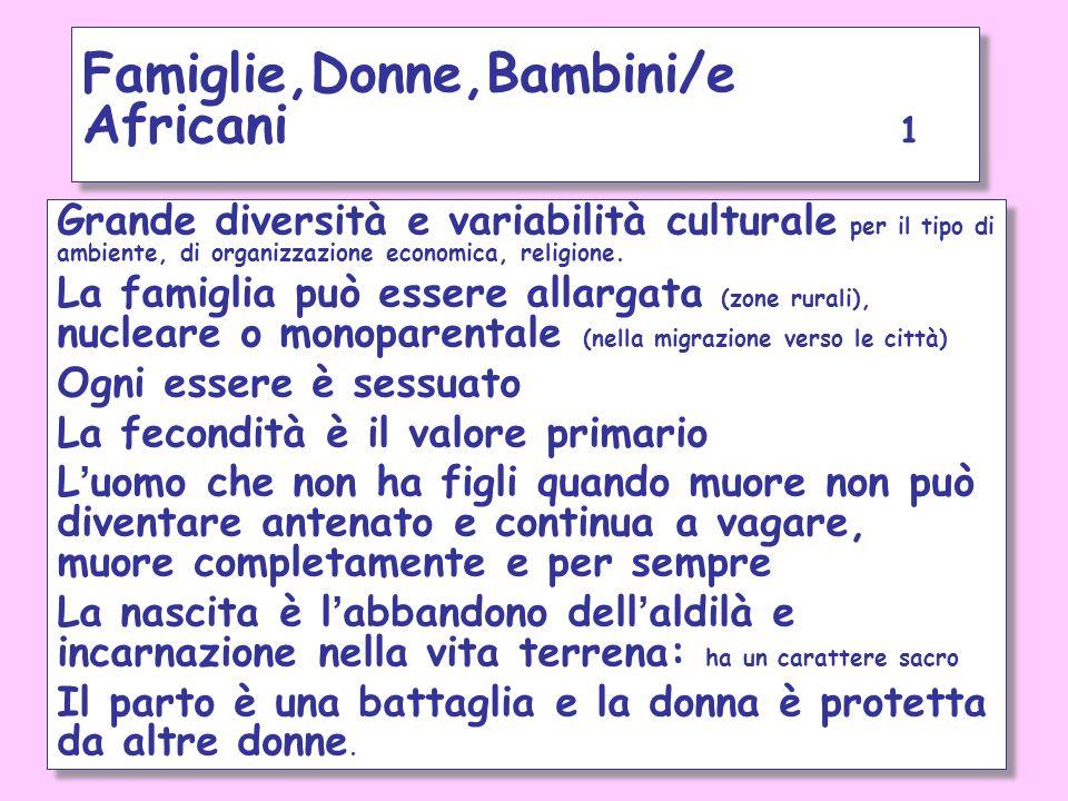 Famiglie,Donne,Bambini/e Africani 1