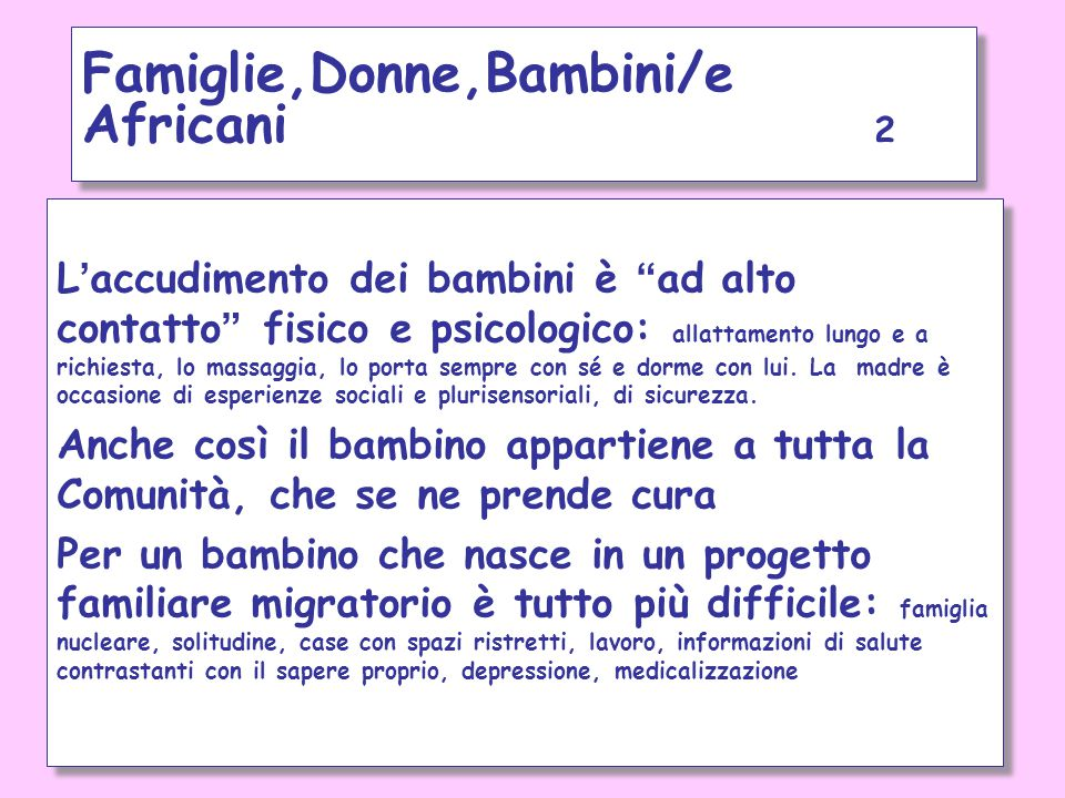 Famiglie,Donne,Bambini/e Africani 2