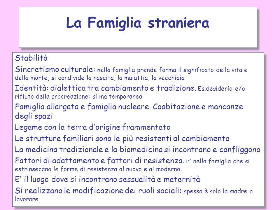 La Famiglia straniera Stabilità
