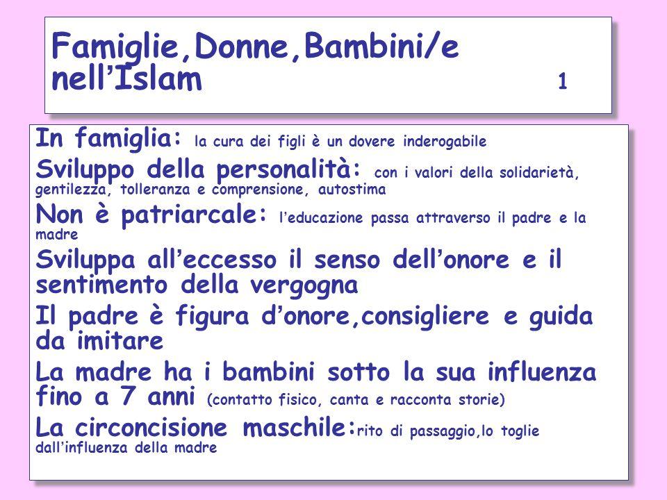 Famiglie,Donne,Bambini/e nell'Islam 1