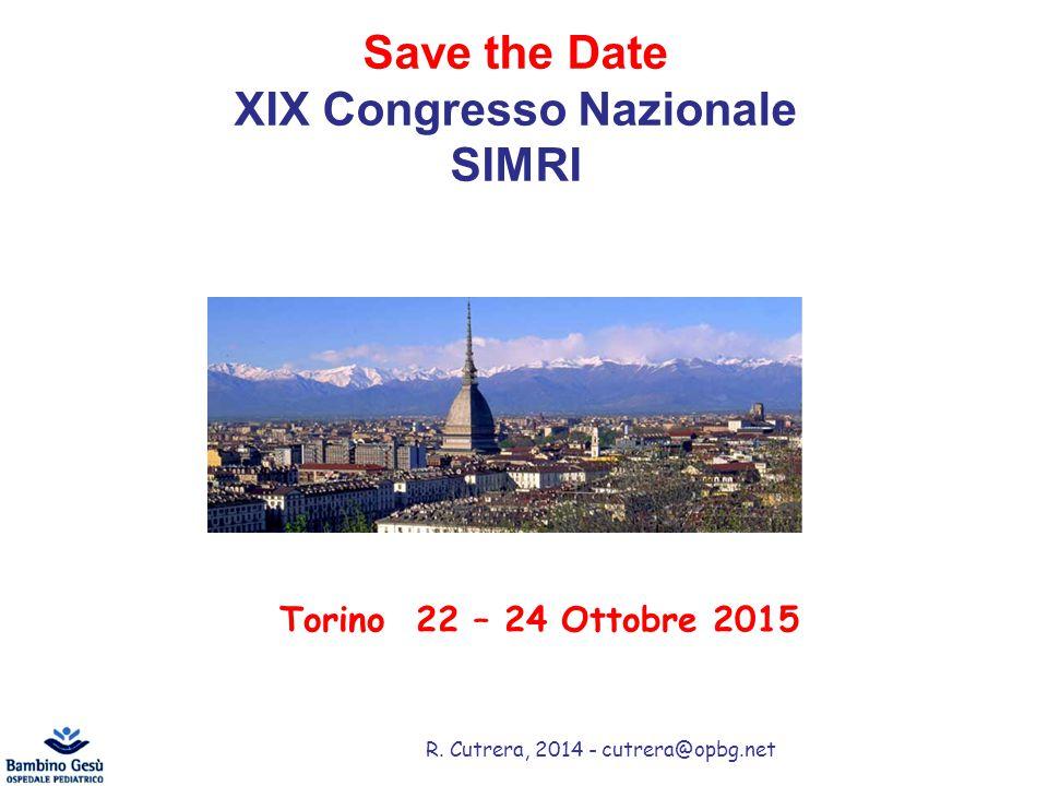 XIX Congresso Nazionale SIMRI
