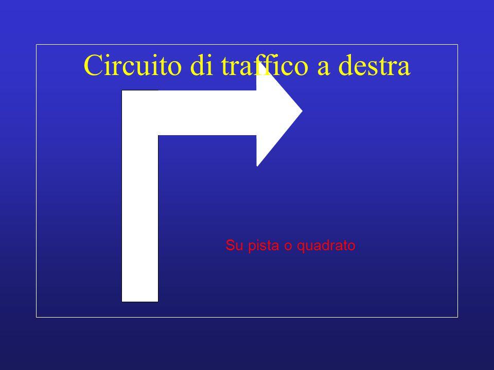 Circuito di traffico a destra