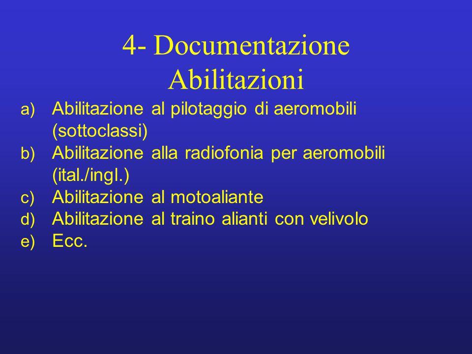 4- Documentazione Abilitazioni