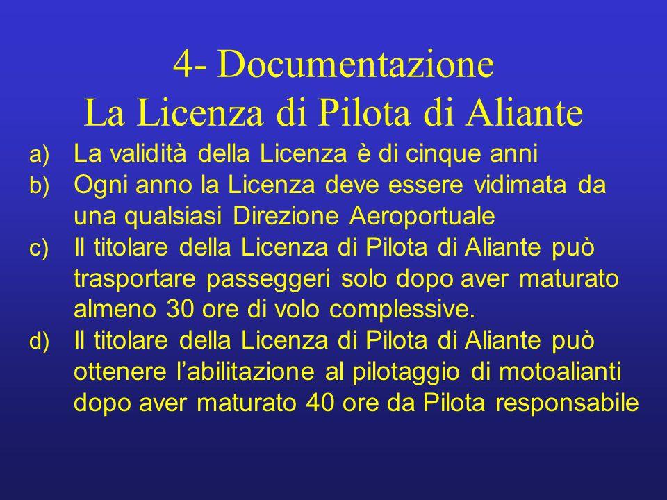 4- Documentazione La Licenza di Pilota di Aliante