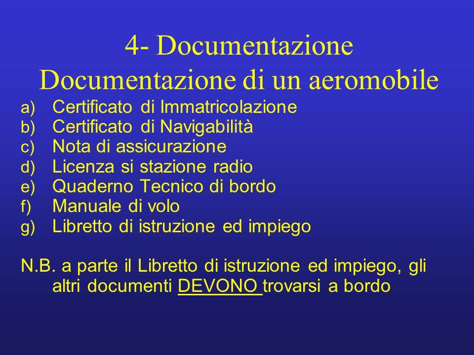4- Documentazione Documentazione di un aeromobile