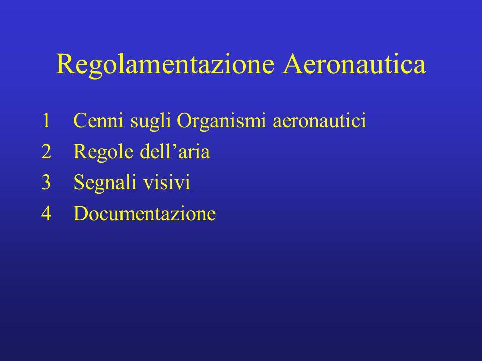 Regolamentazione Aeronautica