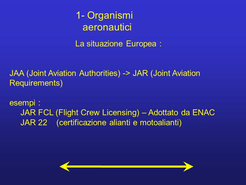 1- Organismi aeronautici