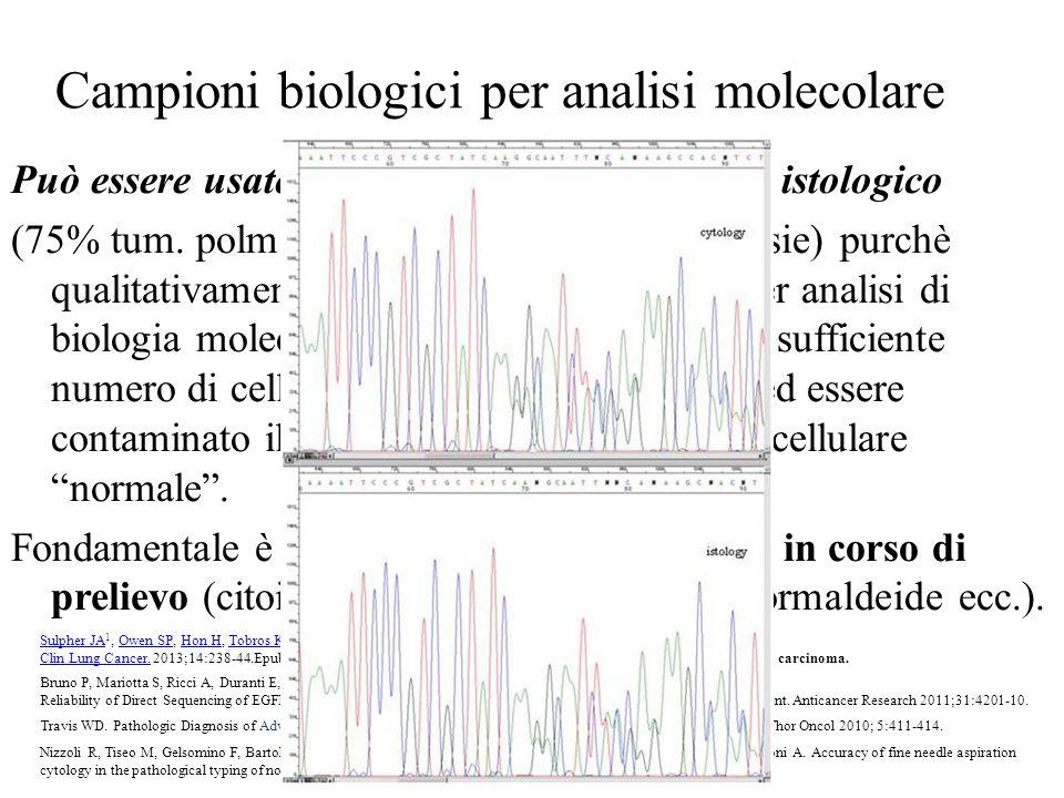 Campioni biologici per analisi molecolare