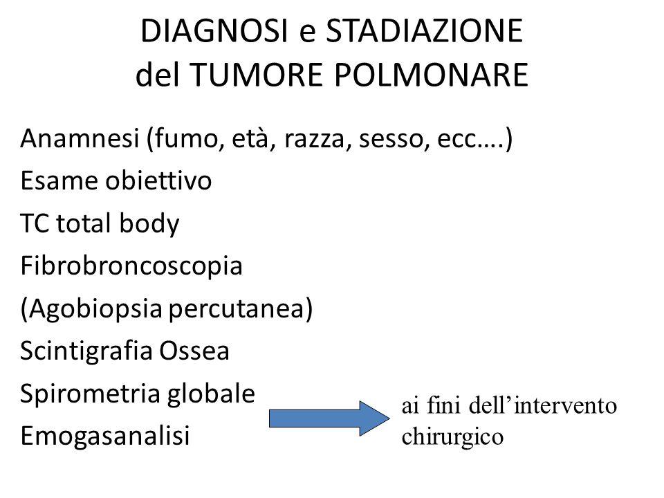 DIAGNOSI e STADIAZIONE del TUMORE POLMONARE