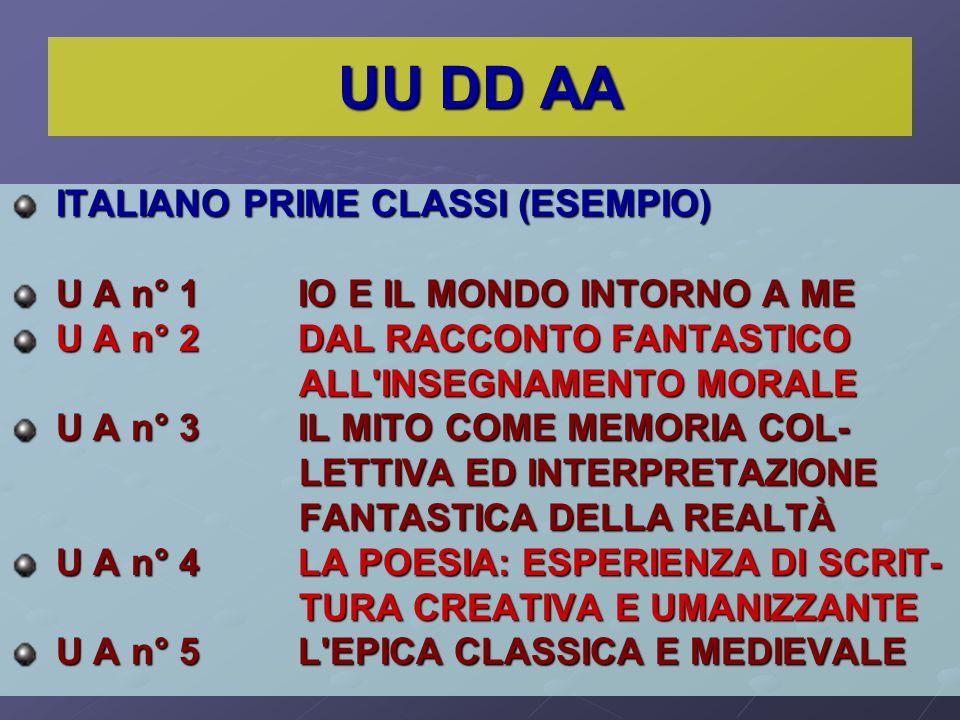 UU DD AA ITALIANO PRIME CLASSI (ESEMPIO)
