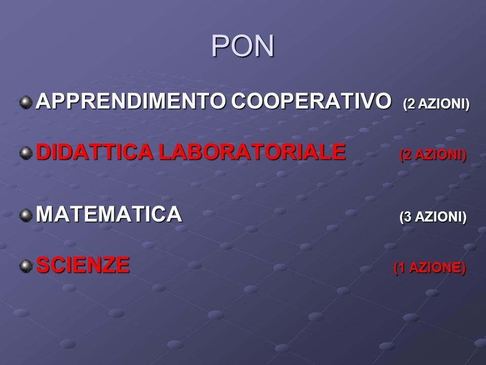 PON APPRENDIMENTO COOPERATIVO (2 AZIONI)