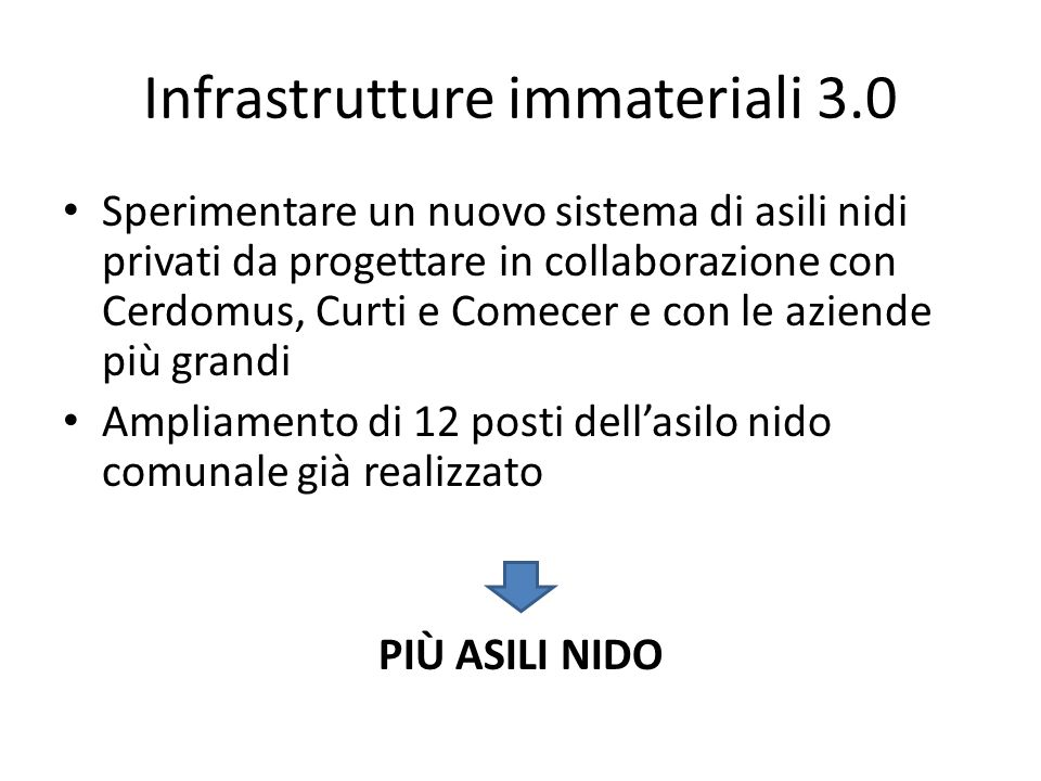 Infrastrutture immateriali 3.0