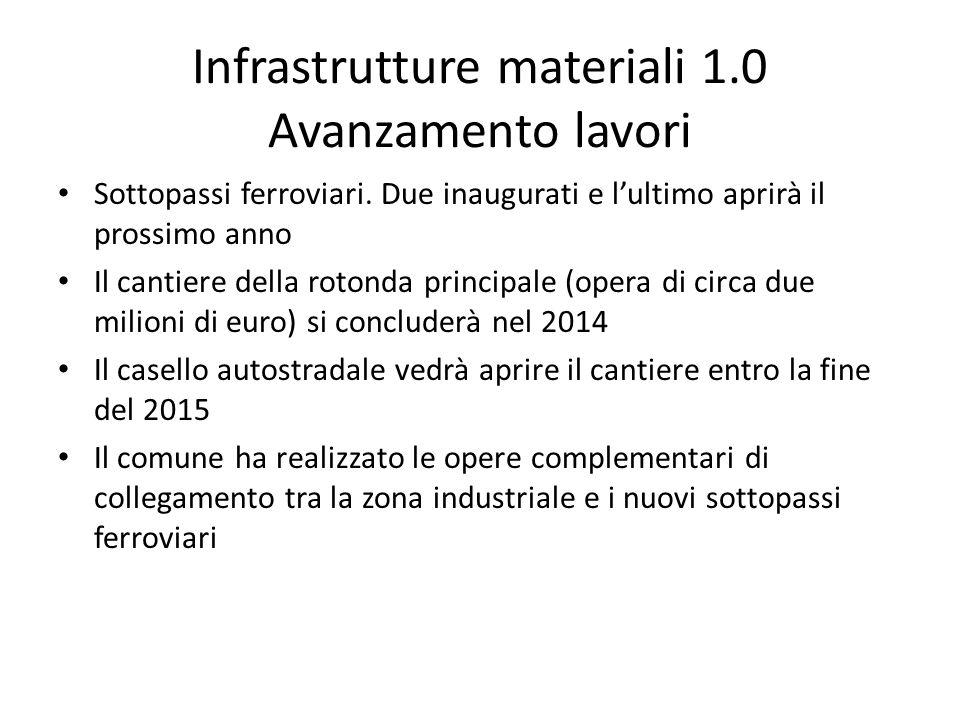 Infrastrutture materiali 1.0 Avanzamento lavori