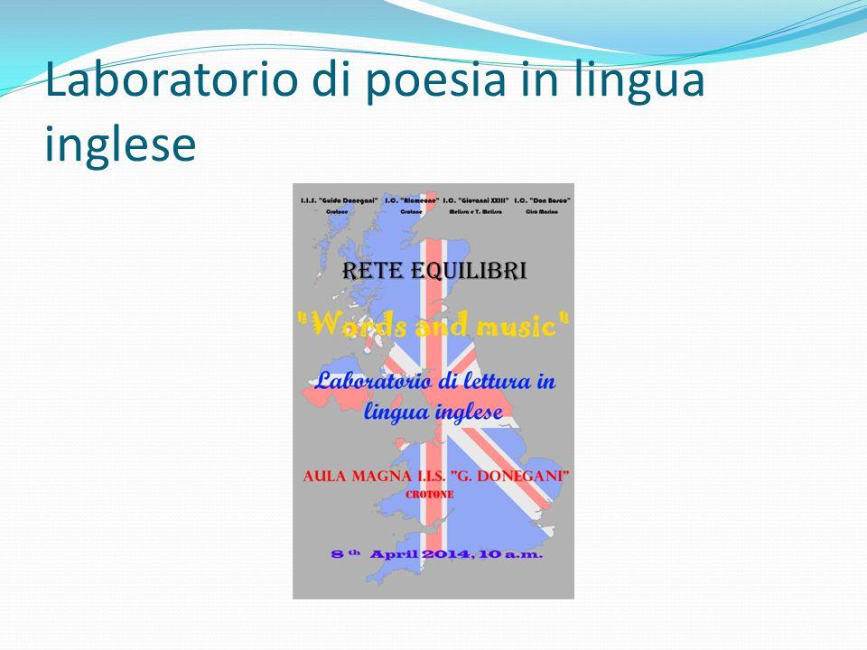 Laboratorio di poesia in lingua inglese