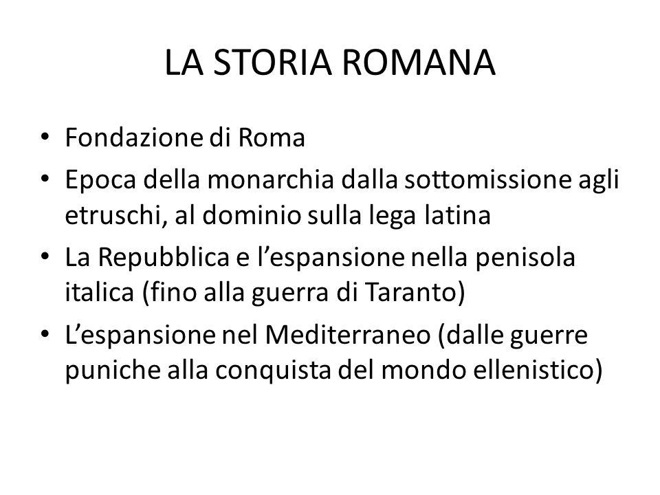 LA STORIA ROMANA Fondazione di Roma