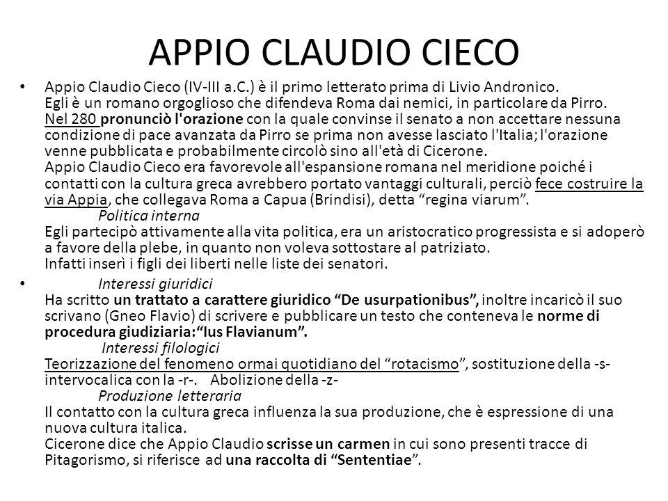APPIO CLAUDIO CIECO