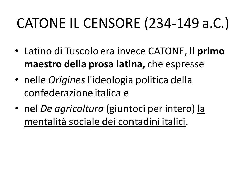 CATONE IL CENSORE (234-149 a.C.)