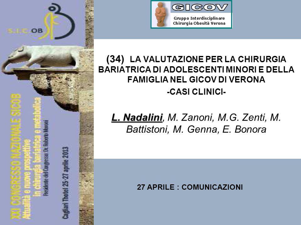 L. Nadalini, M. Zanoni, M.G. Zenti, M. Battistoni, M. Genna, E. Bonora