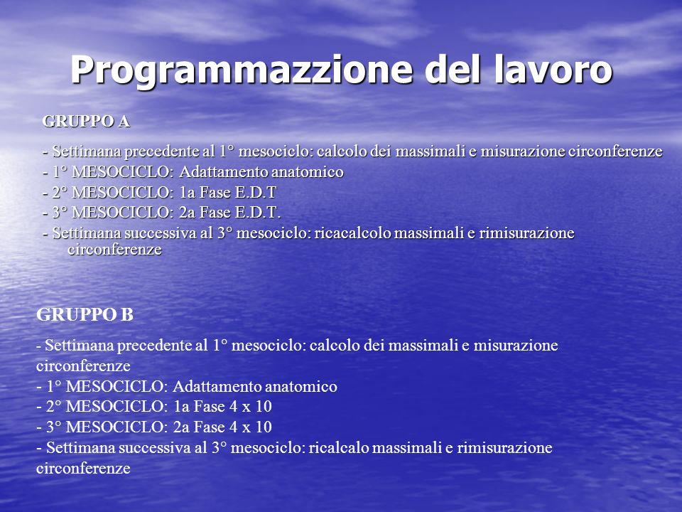 Programmazzione del lavoro