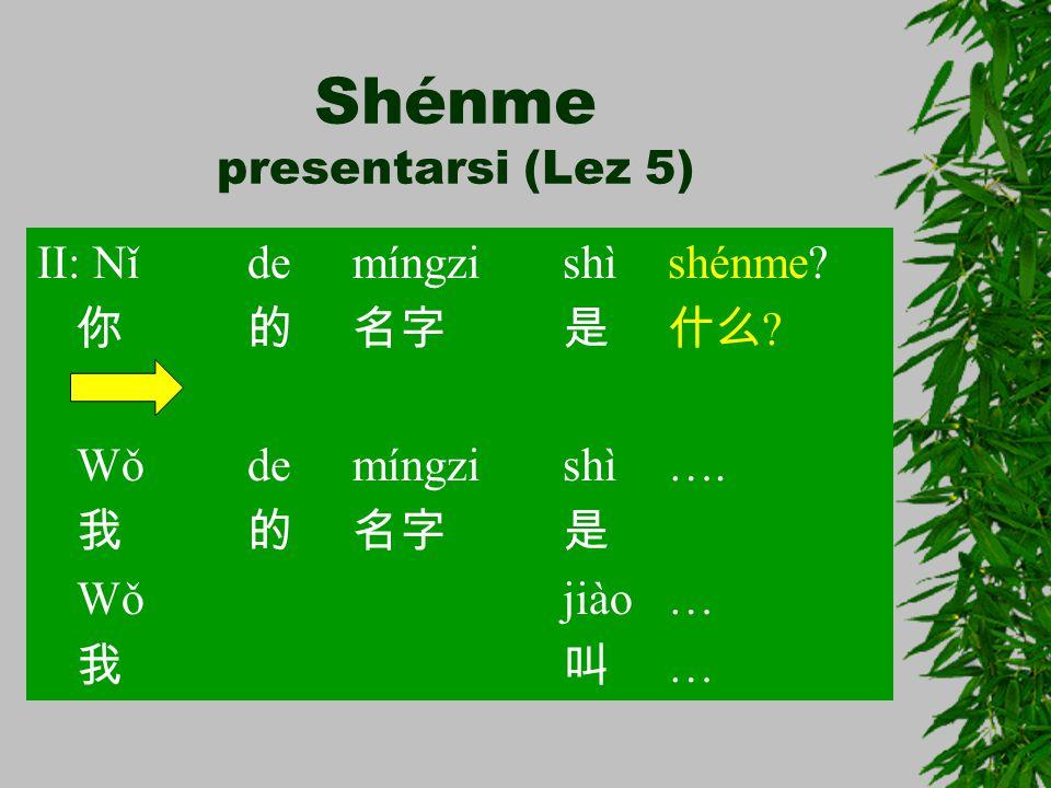 Shénme presentarsi (Lez 5)
