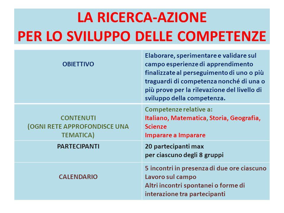 LA RICERCA-AZIONE PER LO SVILUPPO DELLE COMPETENZE
