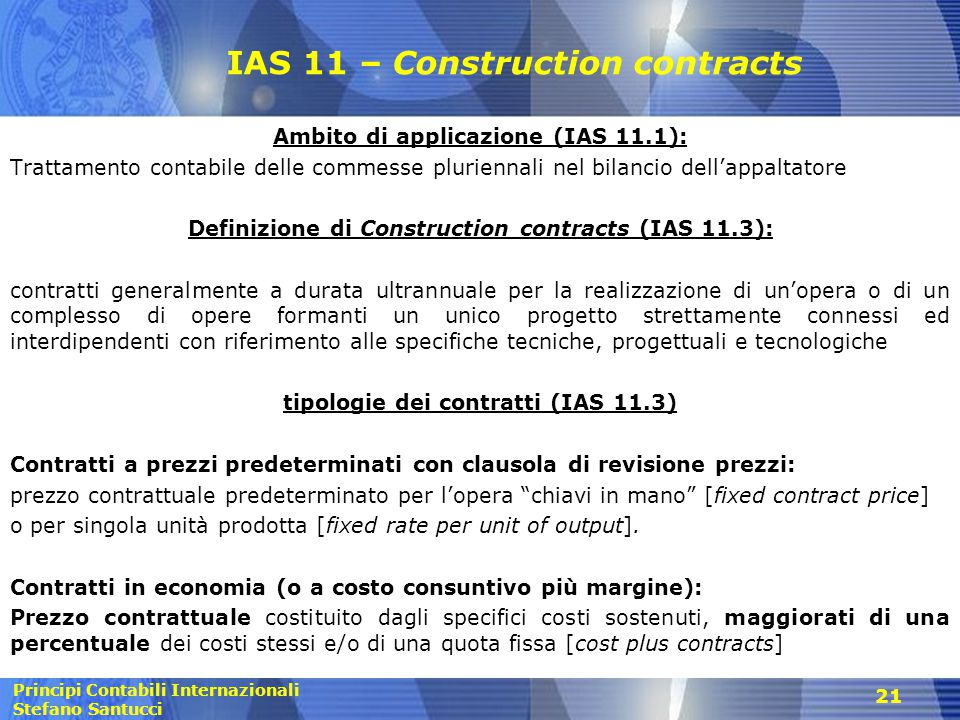 IAS 11 – Construction contracts