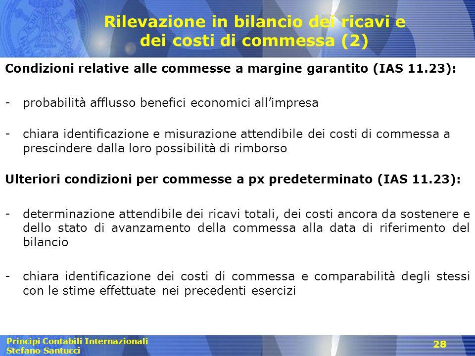 Rilevazione in bilancio dei ricavi e dei costi di commessa (2)
