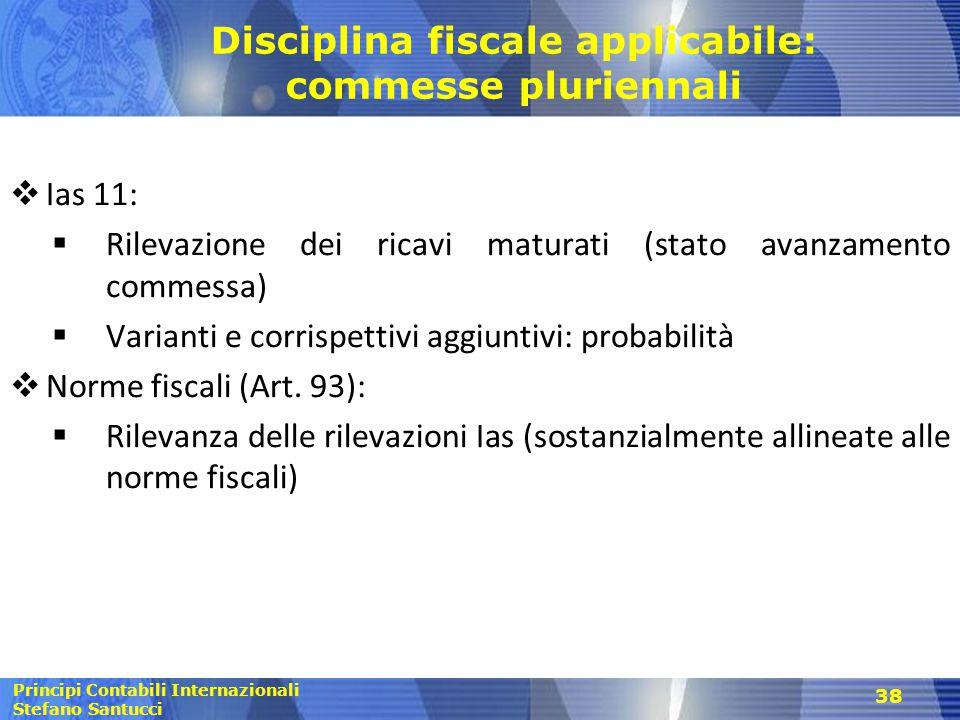 Disciplina fiscale applicabile: commesse pluriennali