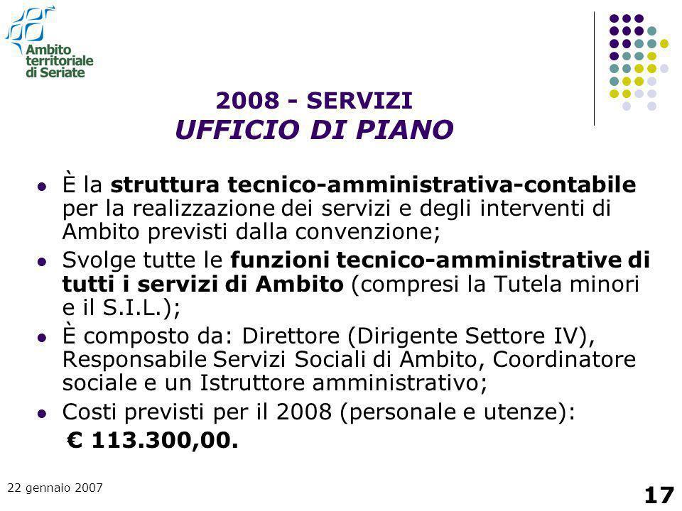 2008 - SERVIZI UFFICIO DI PIANO