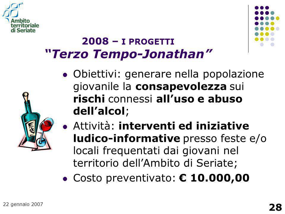 2008 – I PROGETTI Terzo Tempo-Jonathan