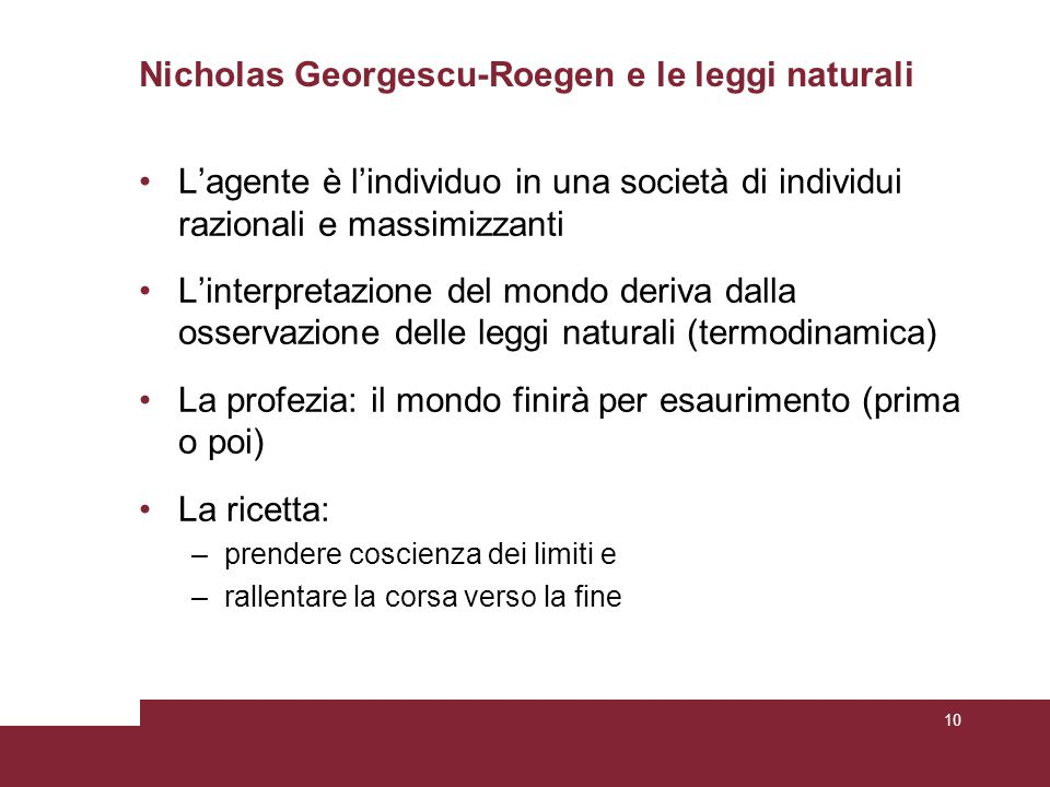 Nicholas Georgescu-Roegen e le leggi naturali