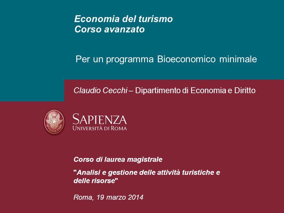 Economia del turismo Corso avanzato