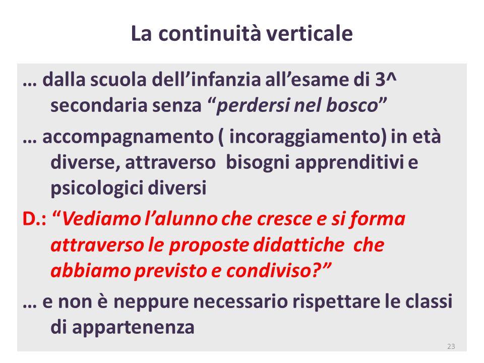 La continuità verticale