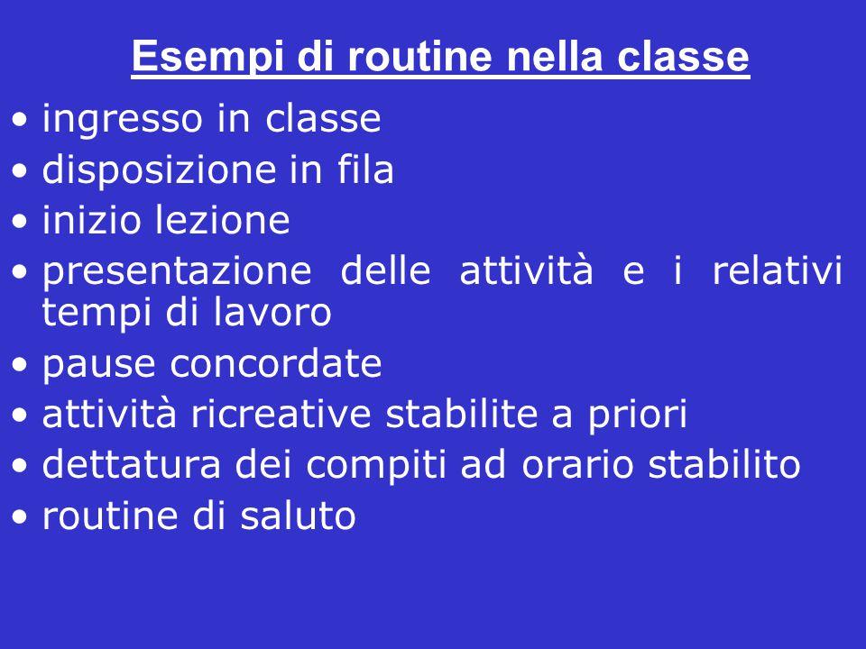 Esempi di routine nella classe