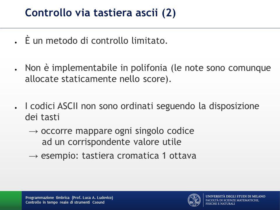 Controllo via tastiera ascii (2)