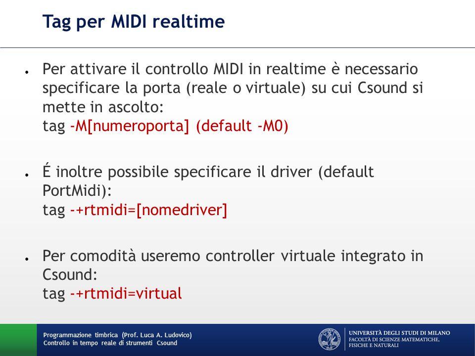 Tag per MIDI realtime