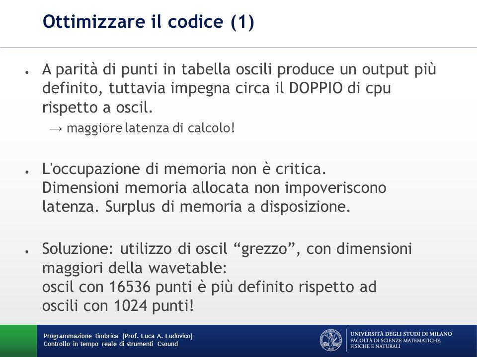 Ottimizzare il codice (1)