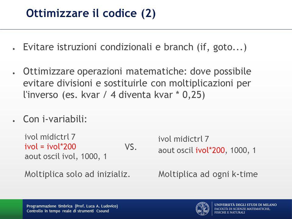 Ottimizzare il codice (2)