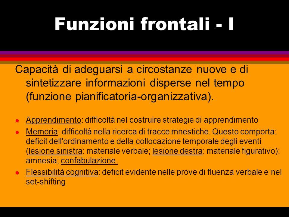 Funzioni frontali - I