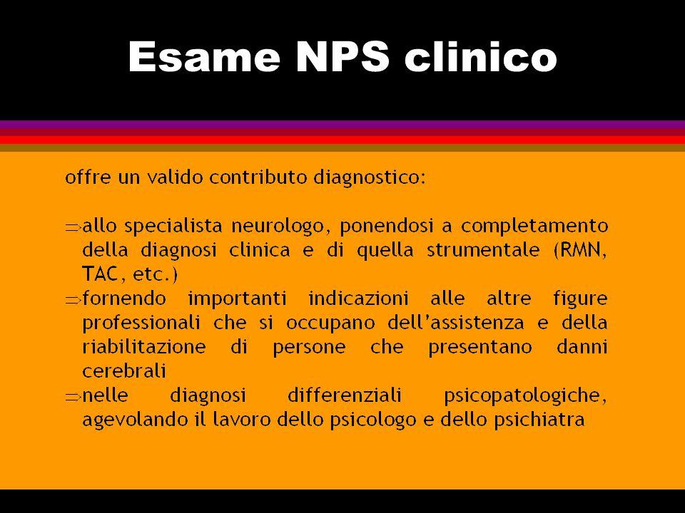 Esame NPS clinico
